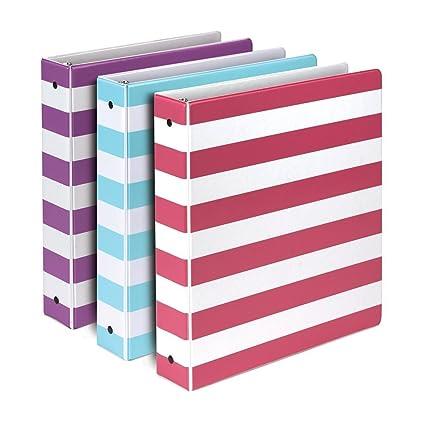 Samsill Stripes Fashion Design - Carpetas con 3 anillas ...