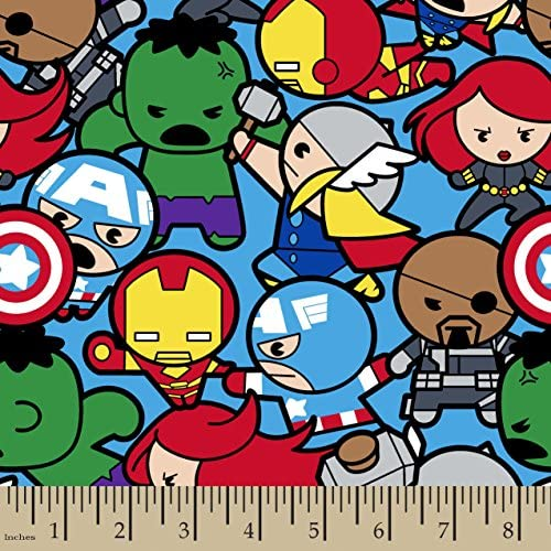 [해외]Springs Creative - Fabric 60589-A62331 Marvel Kawaii All in The Pack Multi / Springs Creative - Fabric 60589-A62331 Marvel Kawaii All in The Pack Multi