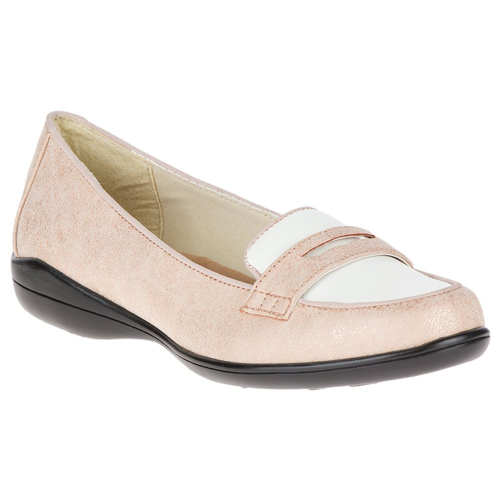 Soft Style by Hush Puppies Women's Daly Loafer B0752VYD86 7.5 C/D US|Rose Cloud/White Vamp