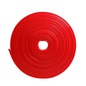 8m 26ft Length Car Wheel Hub Edge Ring Rim Protectors Tape Self Adhesive Universal Style Tyre Tire Guard Accessory Red