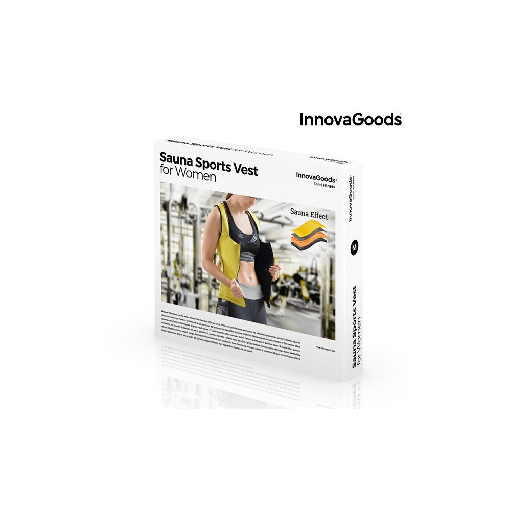 4f17db5c88 InnovaGoods - InnovaGoods Sauna Effect Sports Vest for Women - V0100874   Amazon.co.uk  Sports   Outdoors
