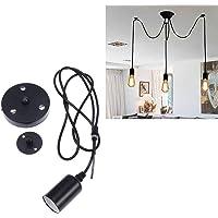Uonlytech Pendant Light 220V Spider Vintage Hanging Lamp 3 Arms E27 Chandelier Light Retro DIY Pendant Lamp Without Bulbs
