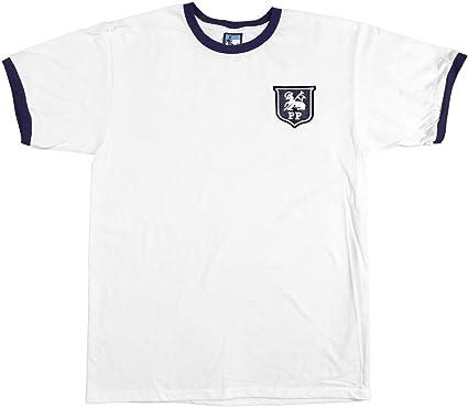 Preston North End 1940-1960s Away Retro Football T Shirt Embroidered Crest S-XXL