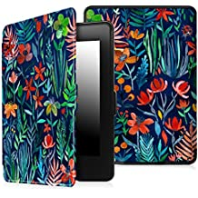 Fintie Case for Kindle Paperwhite - The Thinnest and Lightest PU Leather Cover with Auto Sleep/Wake for All-New Amazon Kindle Paperwhite (Fits All 2012, 2013, 2015 and 2016 Versions), Jungle Night