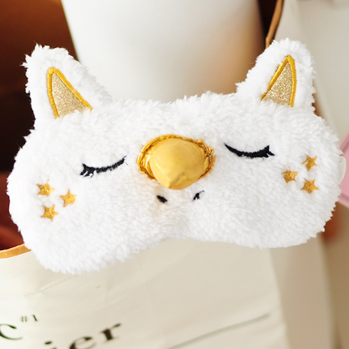 Unicorn 3D sleeping Eye Mask Blindfold plush Cute Eye Cover For Women & Girls