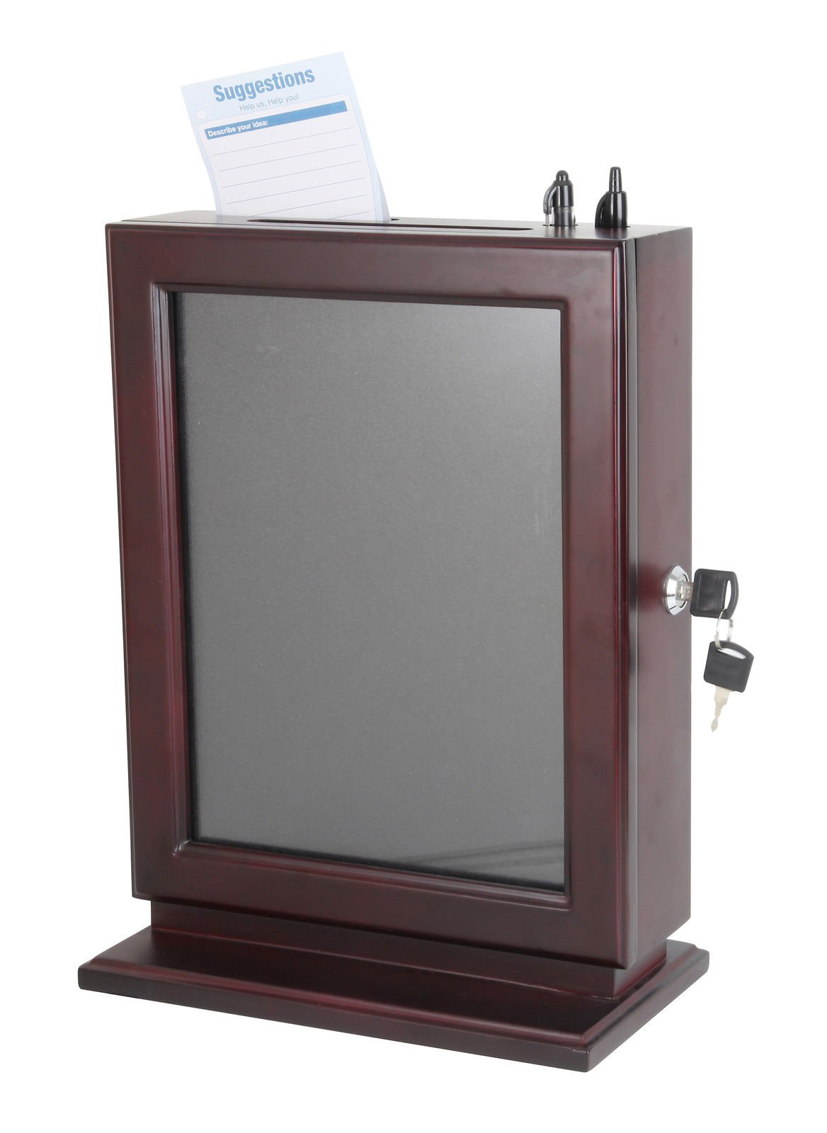 FixtureDisplays Wood Collection Box Suggestion Box Donation Charity Box Fundraising Box 14696