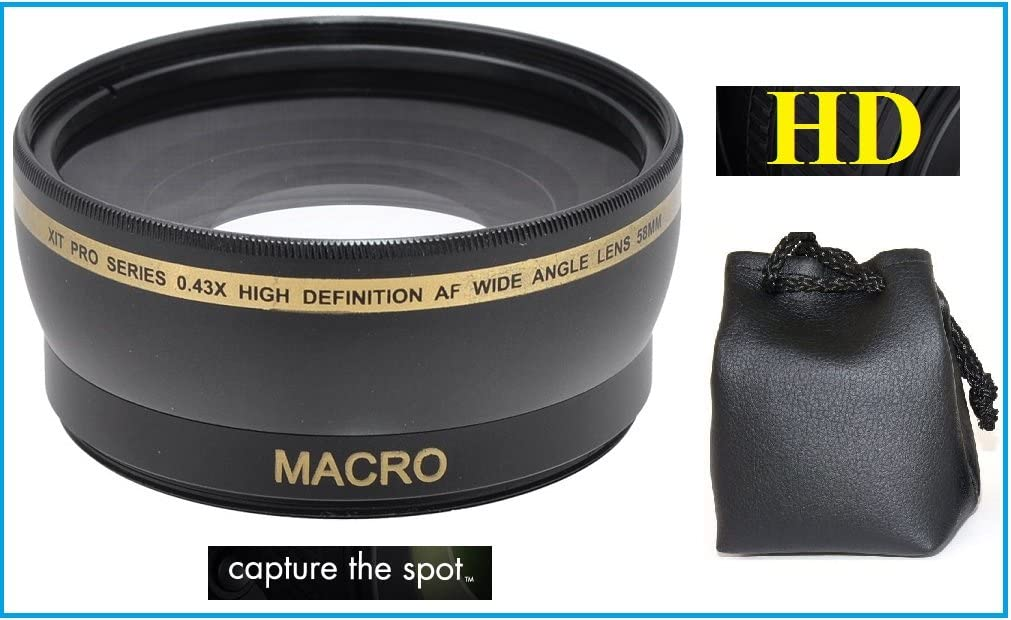 0.43x Hi Def Wide Angle with Macro Lens for Nikon D3500 55mm Compatible