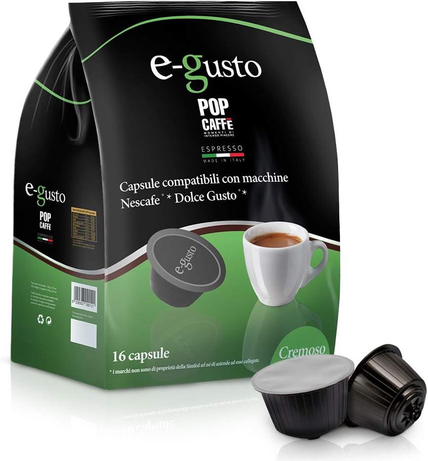 Pop Caffè - 160 cápsulas E-gusto, mezcla, 2 cremoso, compatibles ...