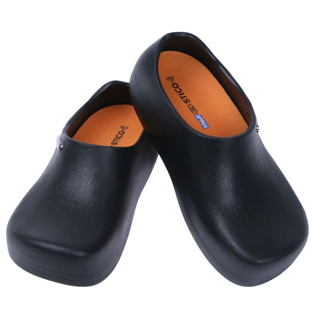 STICO Chef Kitchen Slip Resistant Safety Men Shoes, Black US 9(270mm)