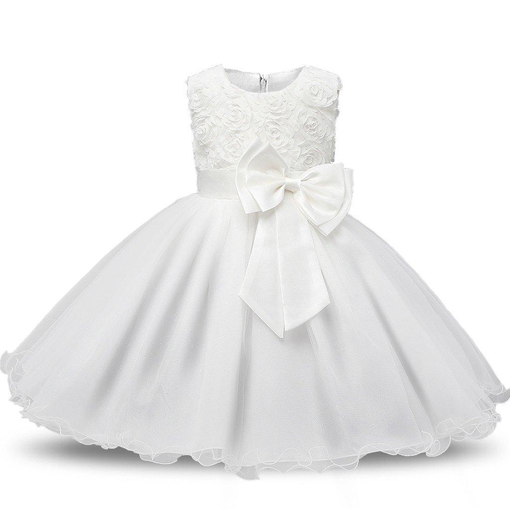 Sawanica Baby Girl Baptism Dress Little Girl Evening Dress Sleeveless Cocktail Dress