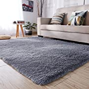 PAGISOFE Soft Kids Room Nursery Rug Bedroom Living Room Carpet 4' x 5.3',Gray