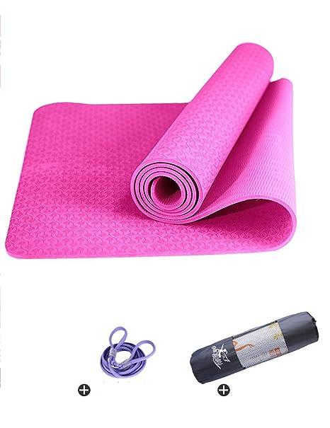 Antideslizante Yoga Mat --- TPE insípido engrosamiento ...