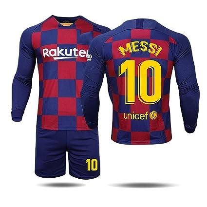 SDQ Sudaderas De Fútbol Barcelona Jersey 19-20 Inicio Messi ...