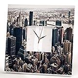 Best Wall Pops Friends Teen Girls - New York City Wall Clock Framed Mirror Manhattan Review