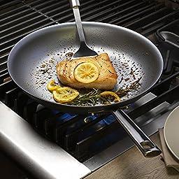 Emeril Lagasse 62928 Dishwasher safe Nonstick Hard Anodized Covered Deep Saute Pan, 5-Quart ,Gray