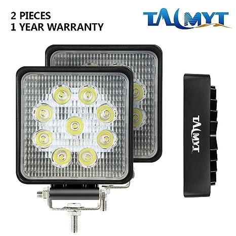 27W LED luces de trabajo 12V-24V focos de led 6500K luces de conducción luz