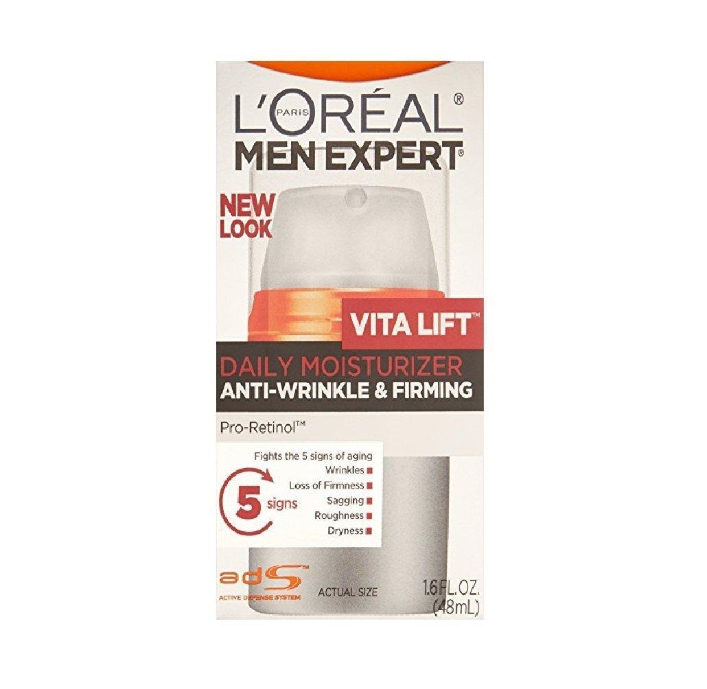 L'Oreal Paris Men's Expert Vita Lift Anti-Wrinkle & Firming Moisturizer 1.6 fl oz (Pack of 2)