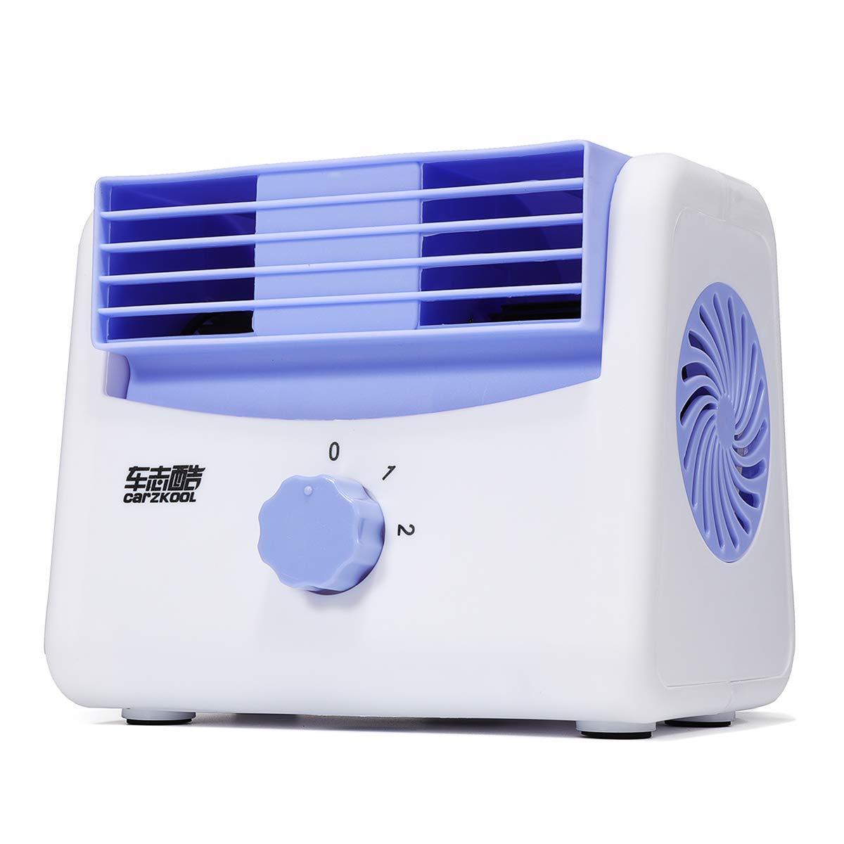AAlamor Ventola di Raffreddamento Portatile Condizionatore d'Aria Bladeless Personal Cooler Spazio per Casa Ufficio Scrivania Auto 12V - 12V