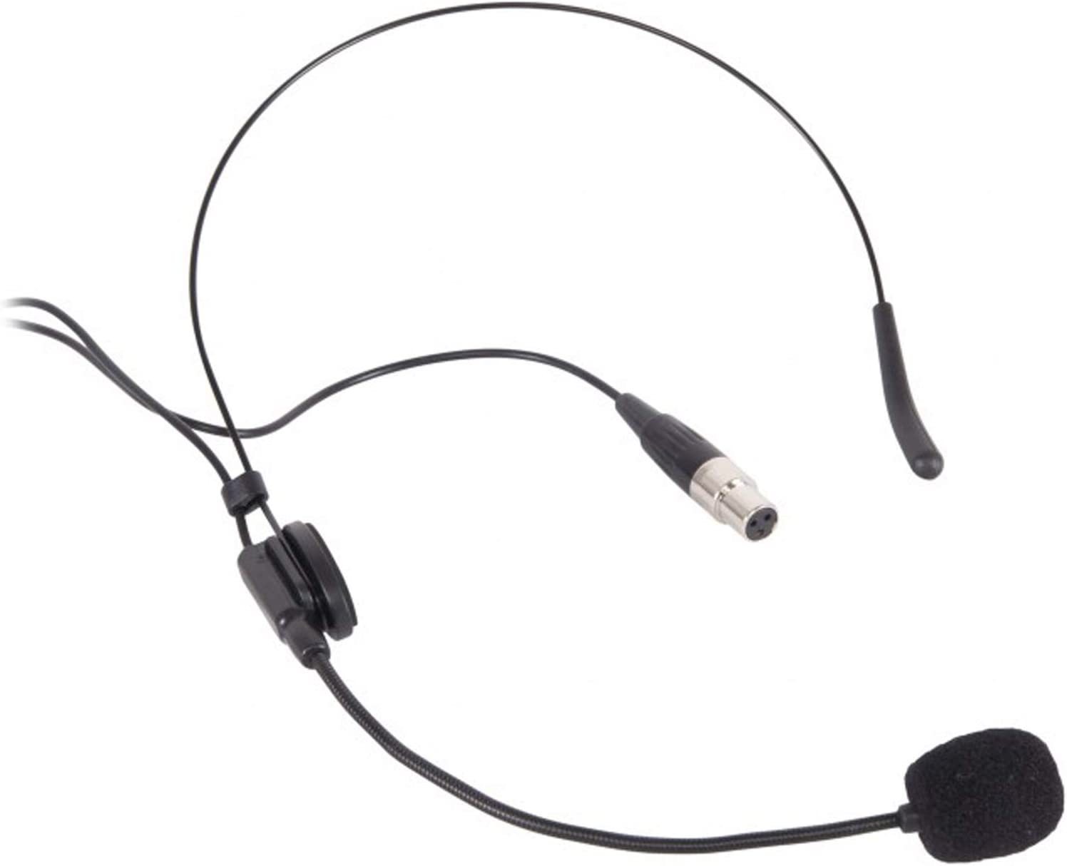 Proel EIKON HCM25 HCM25 Microfono ad archetto a condensatore miniaturizzato con connettore mini cannon XLR 4 poli Femmina Nero