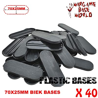 GRENFAS_Lot of 40 Piece 70x25mm Base Plastic Bike Bases Table Games Bits for Wargames: Toys & Games