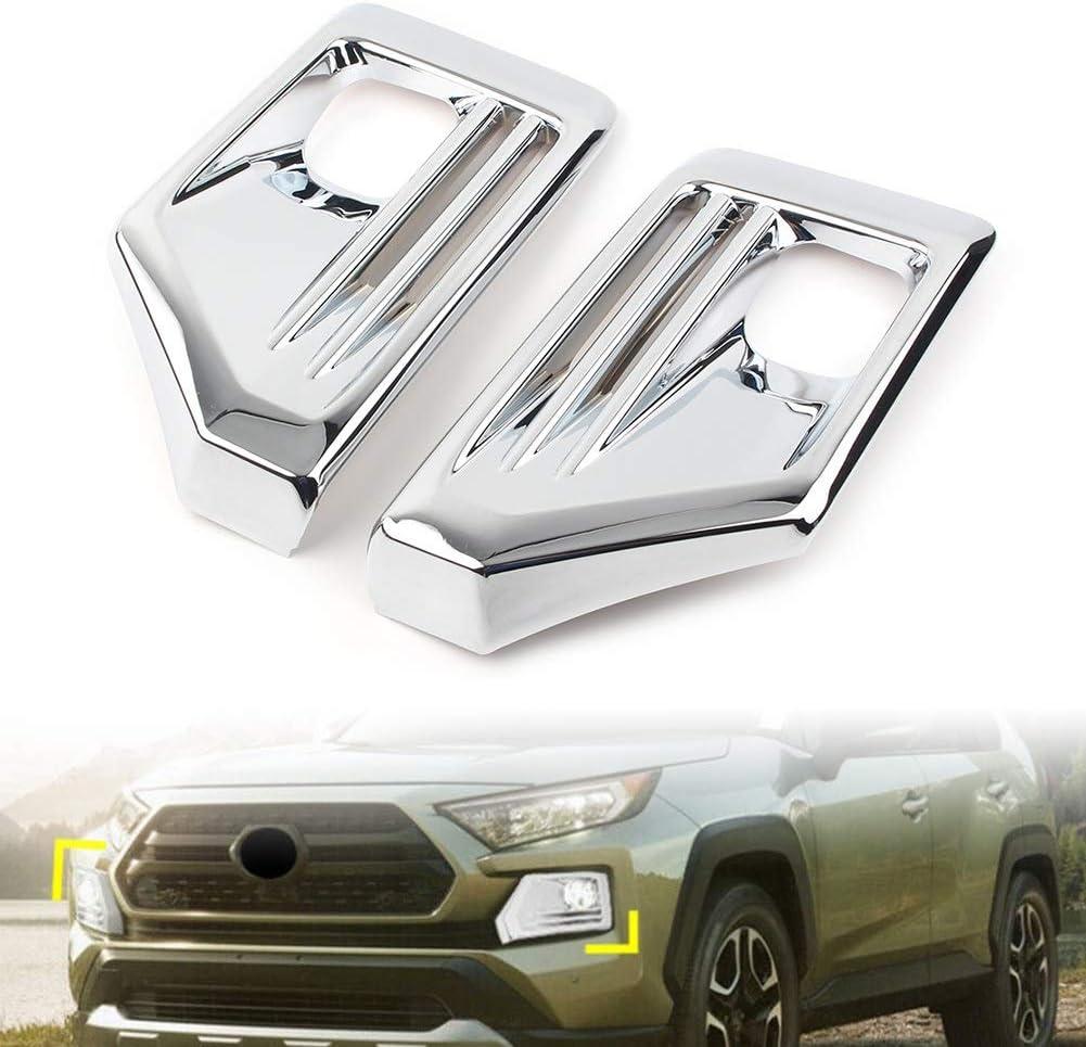 ZHENGGUIFANG Pr/ämie Chrome Auto Nebelscheinwerfer Lampenabdeckung Trim for Toyota RAV4 Adventure 2019 2020 ABS