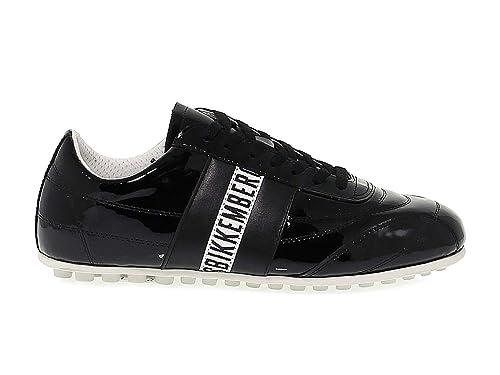 Bikkembergs Mujer BKE107823W Negro Cuero De Charol Zapatos: Amazon.es: Zapatos y complementos