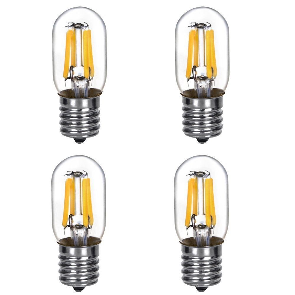 HERO-LEDT22-DSE17-2W-WW27 Dimmable T22 E17 Intermediate Base 2W LED Filament Light Bulb, Microwave Light Bulb, Appliance Lights, 25W Equivalent, Warm White 2700K, 4-Pack
