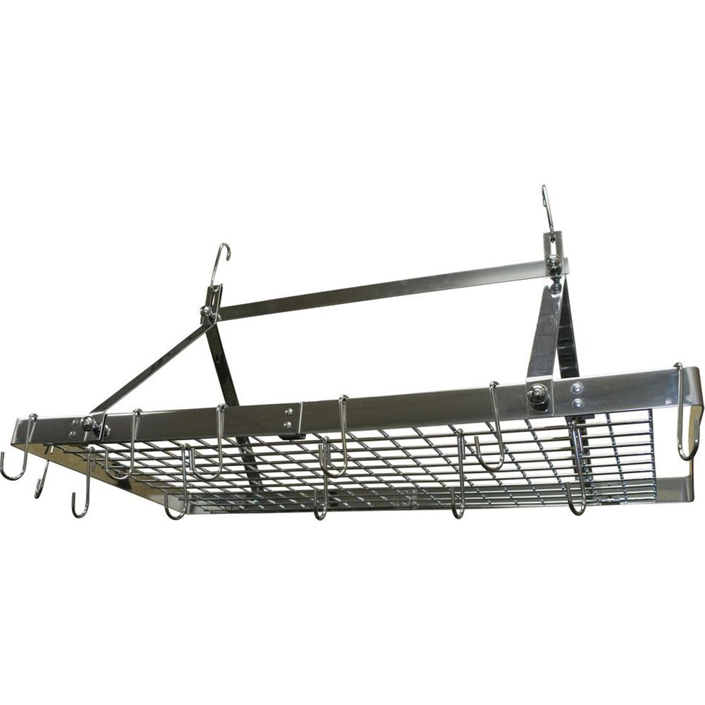 Range Kleen CW6014 Pot Rack Rectangle Stainless Steel Silver