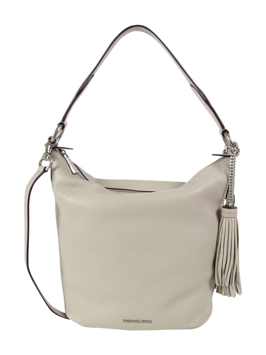 MICHAEL Michael Kors Women's Elana Large Convertible Shoulder Cement Handbag
