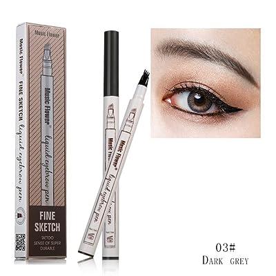 2018 Stylo à sourcils tatouage avec quatre conseils Gel à sourcils imperméable longue durée pour le maquillage des yeux (3#-fr)