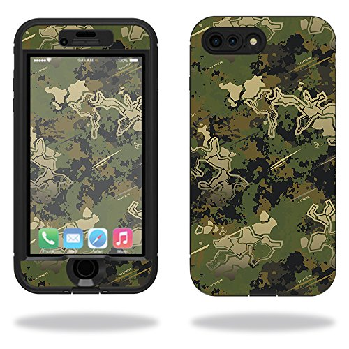(MightySkins Protective Vinyl Skin Decal Compatible with Lifeproof Nuud iPhone 7 Plus Sticker wrap Cover Sticker Skins TrueTimber Viper Woodland)