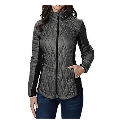 32 Degrees Ladies Mixed Media Down Jacket (Smoke Grey, XL)