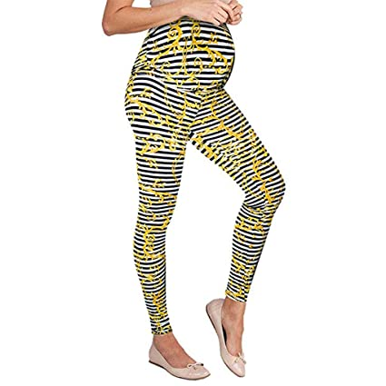 af27efb571948 Amazon.com: Maternity Leggings High Waist Pants For Woman Seamless Printing  Stretch Trousers Pregnant Comfort Prop Belly: Appliances