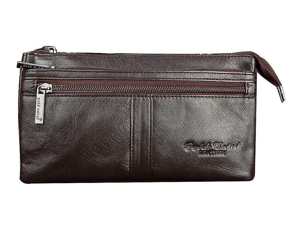 Genda 2Archer Genuine Leather Waist Purse Fanny Pack Belt Bag Pouch AZ3019-BK