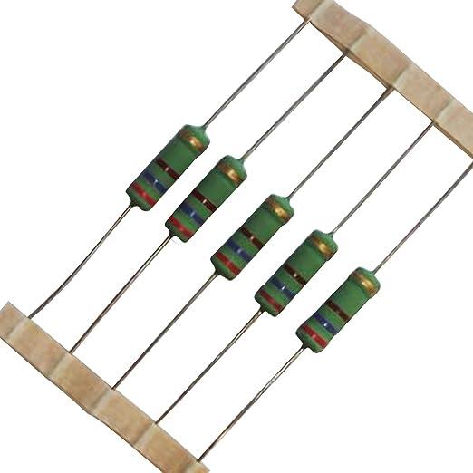 50 Metallschicht Widerstände 4,7 Ohm Widerstand 1//4 W Resistor 0,25W 4e7 Ohm