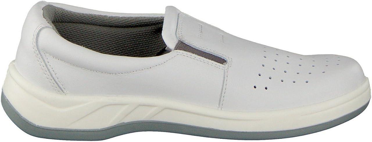 HSM Best Medical Femme ESD Chaussures Pantoufles Professionnelle Blanc