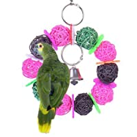 Keersi Colourful Balls Toy for Bird Parrot Macaw African Grey Budgie Cockatoo Parakeet Cockatiels Conure Lovebird Cage Chew Toy