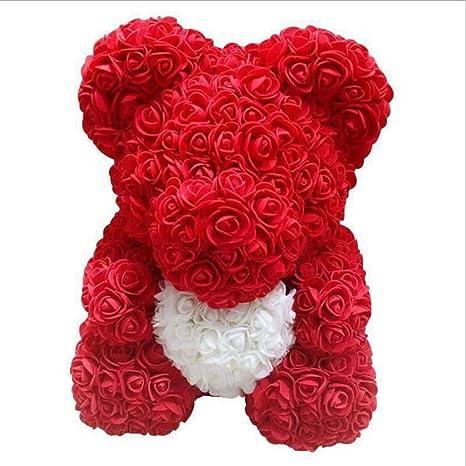 25cm Rose Flower Bear Teddy Birthday Valentine Wedding Party Kid Birthday Gift
