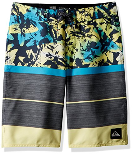 - Quiksilver Big Boys' Slab Island Youth Boardshort Swim Trunk, Cyan Blue, 29