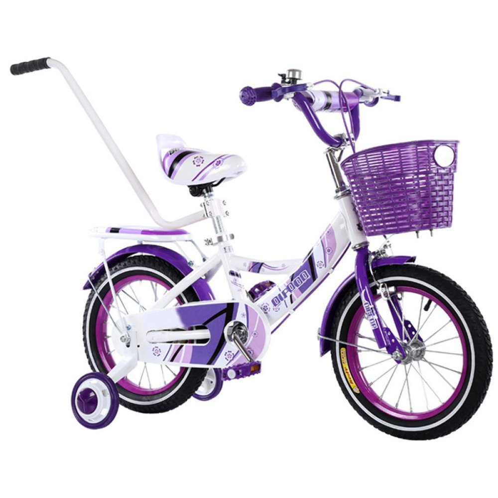 yihangg Bike for子2 ~ 10年古い調節可能軽量トレーニングペダルバイクガールボーイ子供用自転車 B07D16T83DI(14Inches)