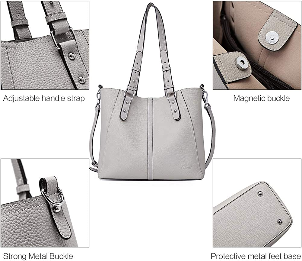 CLUCI Handbags for Women Genuine Leather Designer Purse Fashion Hobo Tote Large Shoulder Bag
