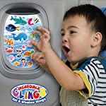 Under the Sea Ocean (30 piece) Incredible Gel and Window Clings - Reusable Removable Puffy Sticker Pack for Kids and Toddler Boys and Girls - Underwater, Turtle, Mermaid, Shark, Whale, Octopus, Fish