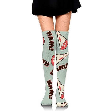 los angeles 3bba4 bcf5a Amazon.com: MFMAKER Women Girls Over Knee Thigh Socks High ...