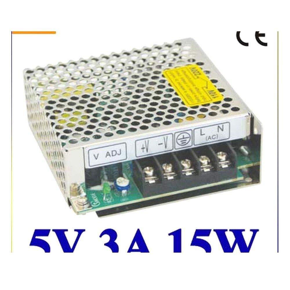iProTool LED Power Supply 5V 3A 100~120V//200~240V AC Input Single Output Switching Power Supply 15W