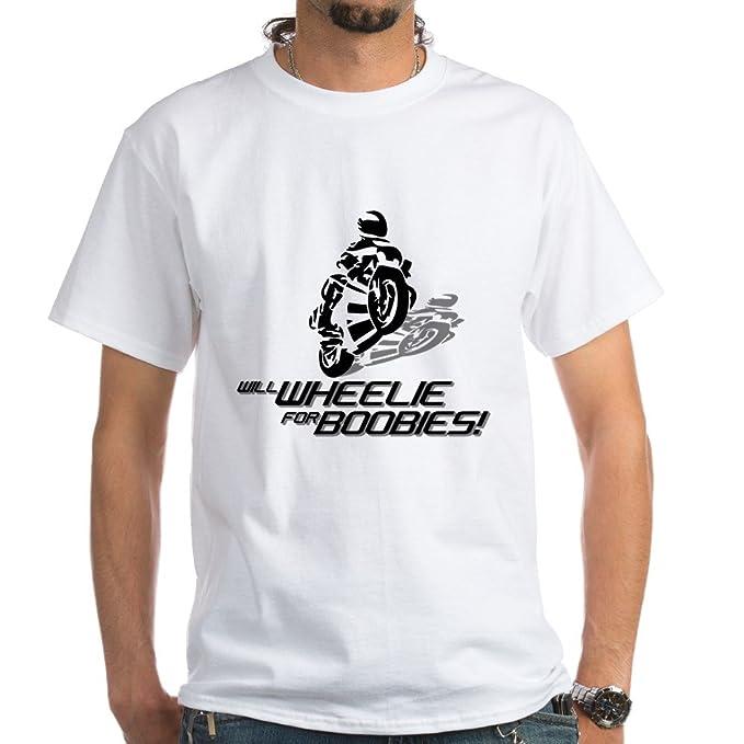 Amazon.com: CafePress Will Wheelie para Boobies playera ...