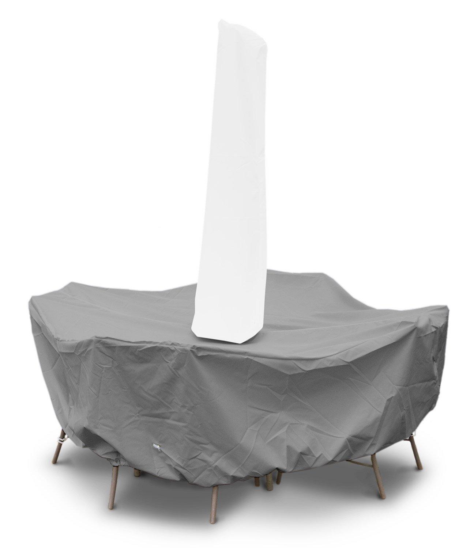 。傘の穴と円卓ハイバックダイニングセットカバーでKoverRoos 91261 Weathermax 80、チョコレート - 114ダイヤが36 Hをxは。 B002YGZRGA