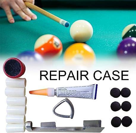 xiangpian183 Billar/Pool/Snooker Tip Kits de Herramientas de reparación Cuidado Accesorio: Amazon.es: Hogar