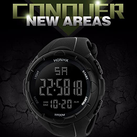 Amazon.com: Zaidern LED Sport Watches,Mens Watch Luxury ...