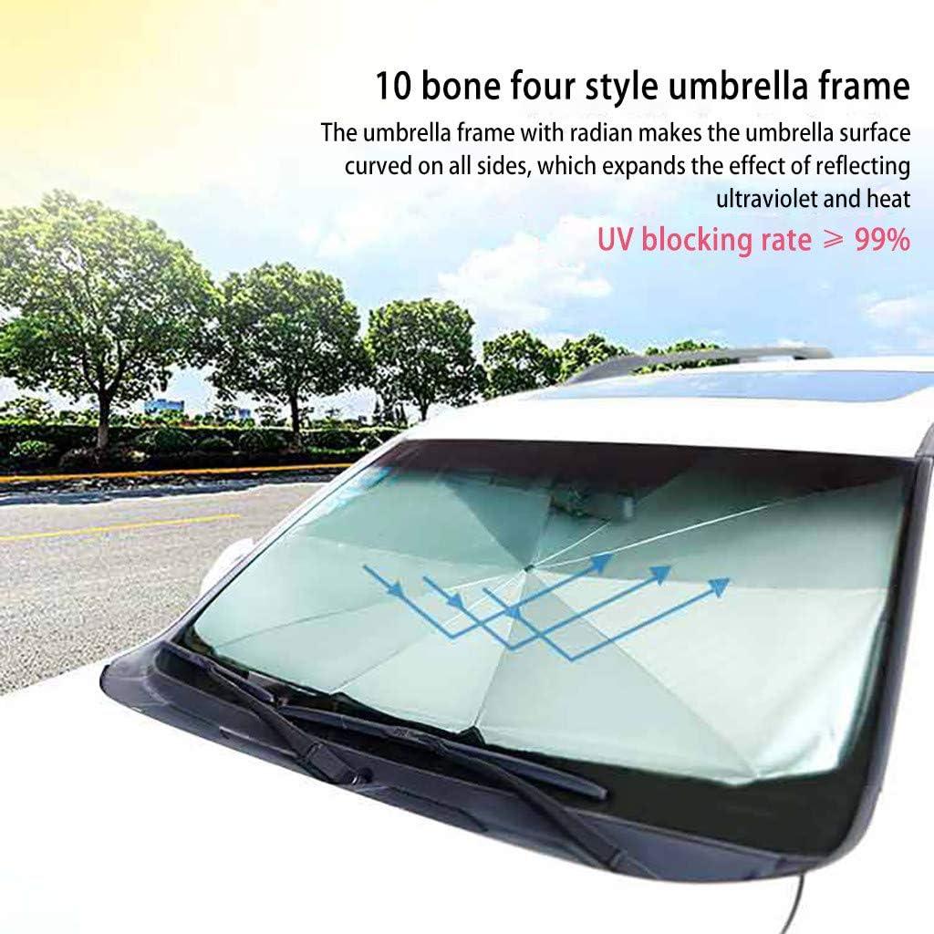 BRISEZZ Auto Sonnenschirm Anti-UV Auto Frontscheibe Sonnenschutz Abdeckungen Auto Autovorhang Autoscheibe Autol/ünette 79 * 130 * 145 cm