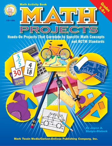 Math Projects: 50 Hands-On Projects That Correlate to Specific Math Concepts & NCTM Standards, Grades 5-8+ - Nctm Math Activities